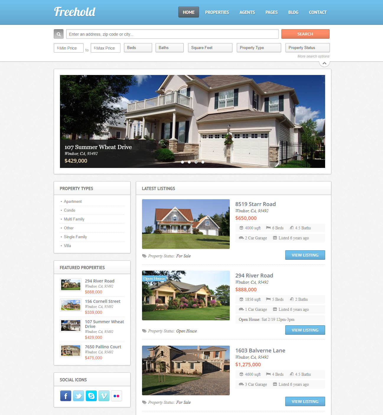 Freehold Real Estate Theme